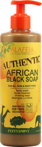 Alaffia Peppermint African Black Soap Perspective: front