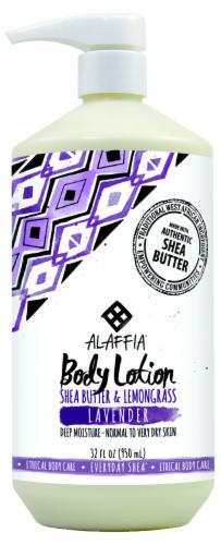 Alaffia Everyday Shea Butter & Lemongrass Lavender Body Lotion Perspective: front