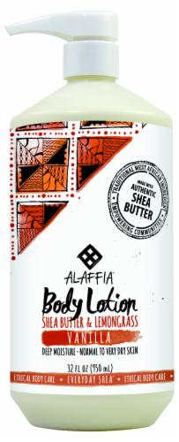 Alaffia Everyday Shea Butter & Lemongrass Vanilla Body Lotion Perspective: front