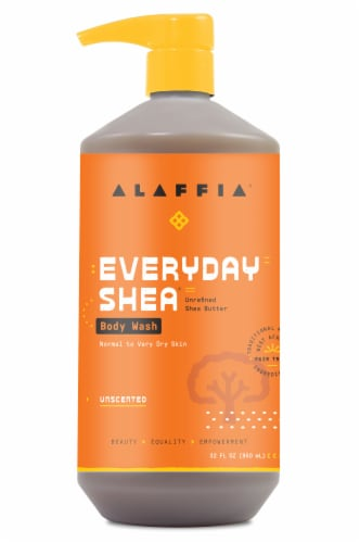 Alaffia Everyday Shea Unscented Body Wash Perspective: front