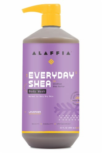Alaffia Everyday Shea Lavender Body Wash Perspective: front