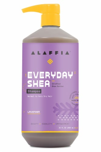 Alaffia Everyday Shea Lavender Shampoo Perspective: front
