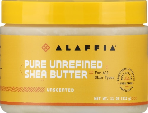 Alaffia Unscented Pure Unrefined Shea Butter Perspective: front