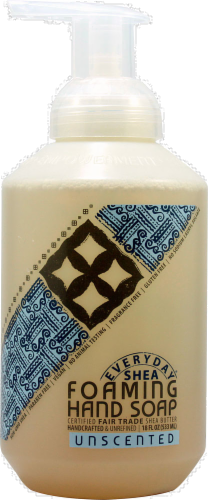 Alaffia Everyday Shea Unscented Foaming Hand Soap Perspective: front