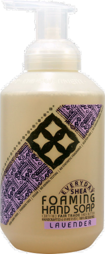 Alaffia Everyday Shea Lavender Foaming Hand Soap Perspective: front