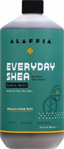 Alaffia  Everyday Shea® Moisturizing Bubble Bath Vanilla Citrus Mint Perspective: front