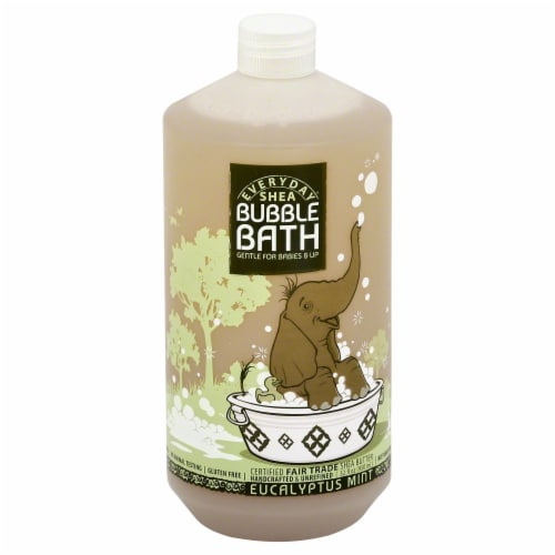 Everyday Shea Eucalyptus Mint Bubble Bath Gentle for Babies & Up Perspective: front