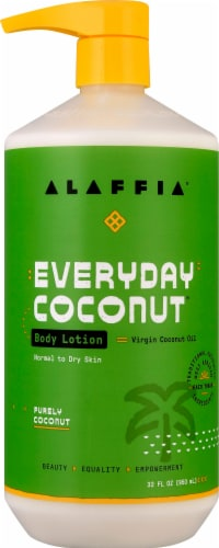 Alaffia Everyday Coconut Body Lotion Perspective: front
