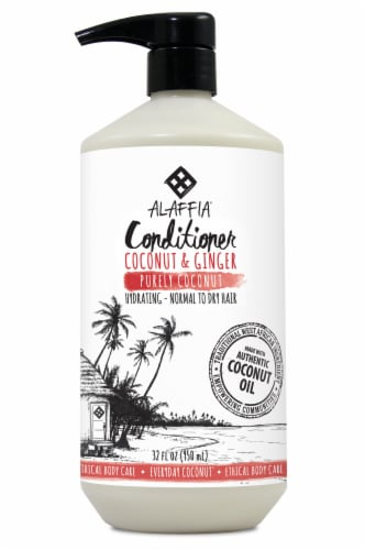 Alaffia Everyday Coconut & Ginger Conditioner Perspective: front