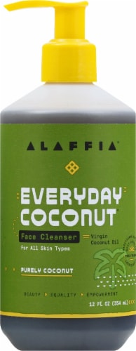 Alaffia Everyday Coconut & Neem Cleansing Face Wash Perspective: front