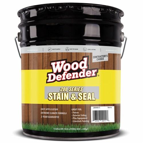 Wood Defender 200 Series Sierra Semi-Transparent Stain & Sealer 5-gallon Perspective: front