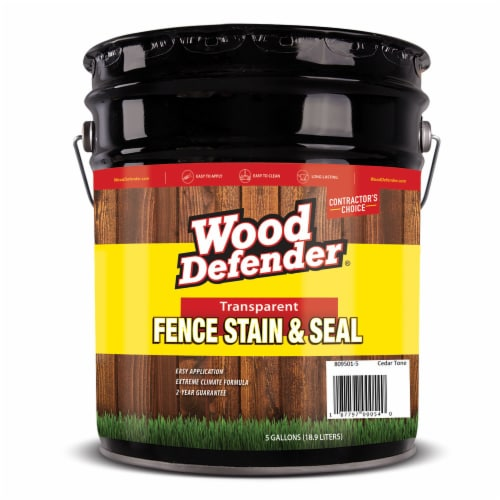 Wood Defender Transparent Fence Stain CEDAR TONE 5-gallon Perspective: front