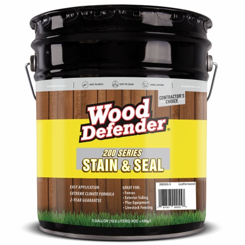 Wood Defender 200 Series Leatherwood Transparent Stain & Sealer 5-gallon Perspective: front
