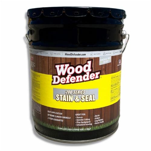 Wood Defender 200 Series Cedar Tone Transparent Stain & Sealer 5-gallon Perspective: front