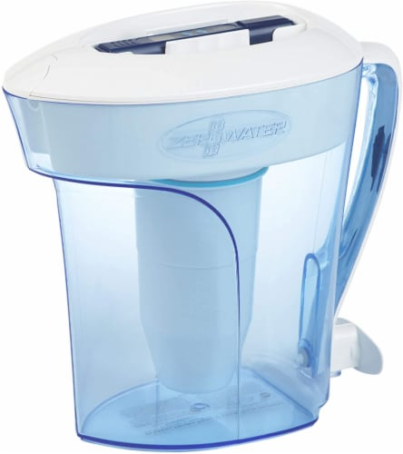 Zerowater 10-Cup Pitcher with Water Filter - Clear Perspective: front