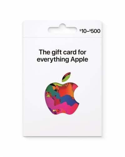 Apple $10-$500 Gift Card - After Pickup, visit us online to activate and add value Perspective: front