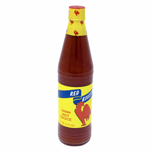 Red Rooster Hot Sauce Perspective: front