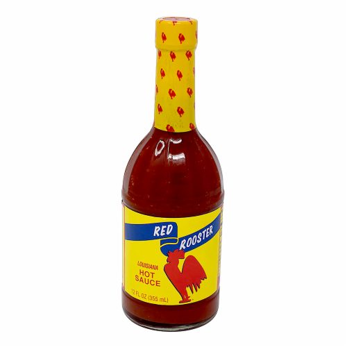 Red Rooster Louisiana Hot Sauce Perspective: front