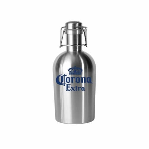 Corona 190443002324 Stainless Crown Logo Growler Perspective: front