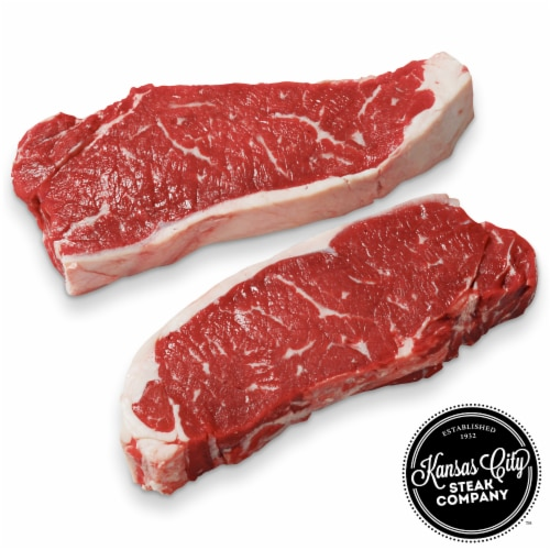Kansas City Steak Strip Steaks (Approximate Delivery is 3 - 8 Days) Perspective: front