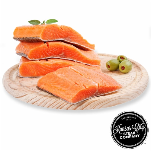 Kansas City Steak Wild-Caught Sockeye Salmon (Approximate Delivery 3-8 Days) Perspective: front