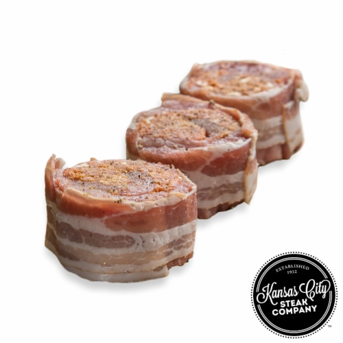 Kansas City Steak Boneless Pork Chops Wrapped in Hickory Bacon (Approximate Delivery is 3 - 8 Days) Perspective: front