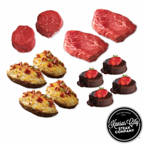 Kansas City Steak Steak Lover's Meal (Approximate Delivery 3 – 8 Days) Perspective: front
