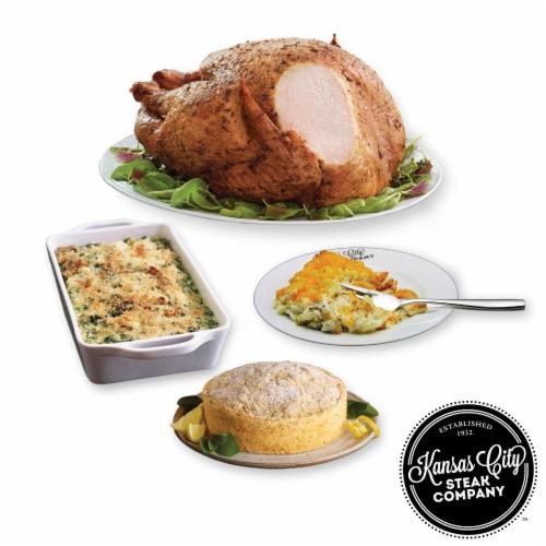 Kansas City Steak Herb Roasted Turkey Full Frozen Meal Perspective: front