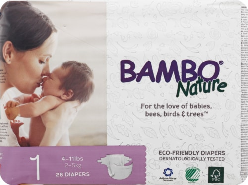 Bambo Nature Baby Diapers Stage 1 - 4 to 11 lbs Perspective: front