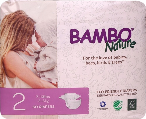 Bambo Nature Baby Diapers Stage 2 - 7 to 13 lbs Perspective: front