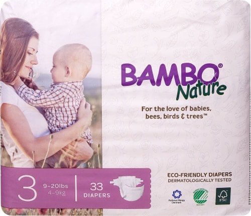 Bambo Nature Baby Diapers Stage 3 - 9 to 20 lbs Perspective: front
