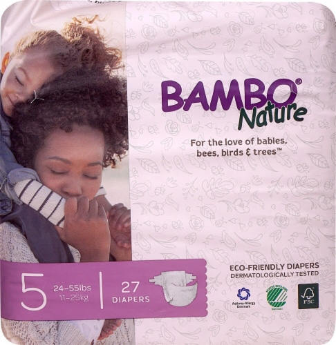 Bambo Nature Baby Diapers Stage 5 - 24 to 55 lbs Perspective: front