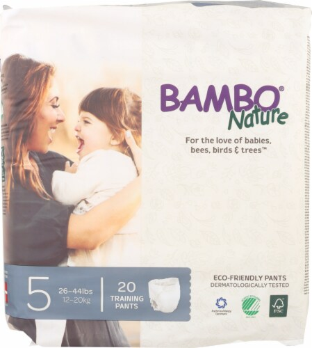 Bambo Nature Size 5 Eco Friendly Training Pants 20 Count Perspective: front