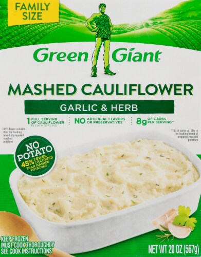 Green Giant Garlic & Herb Mashed Cauliflower Perspective: front
