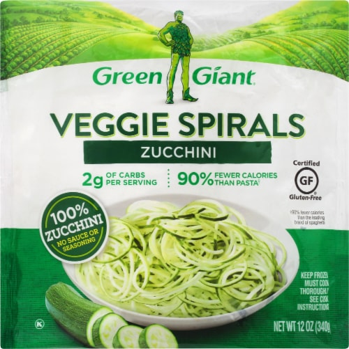 Green Giant Zucchini Veggie Spirals Perspective: front