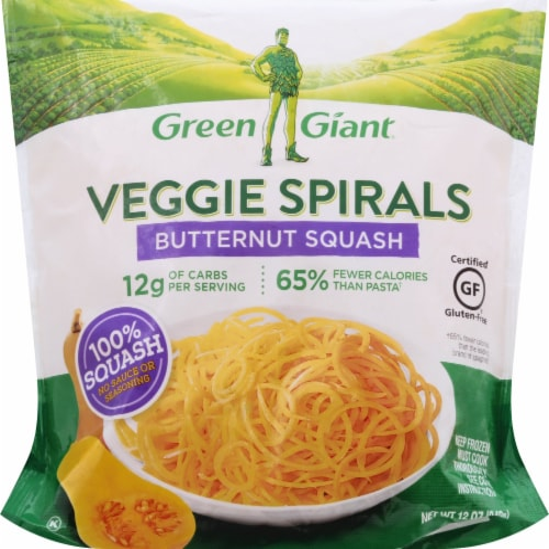 Green Giant Butternut Squash Veggie Spirals Perspective: front