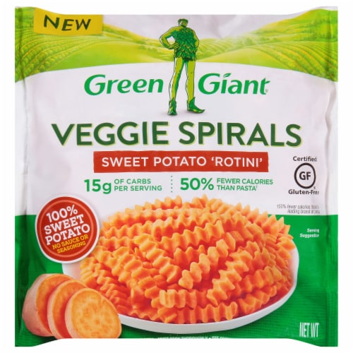 Green Giant Sweet Potato Rotini Veggie Spirals Perspective: front