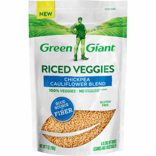 Green Giant Chickpea Cauliflower Blend Riced Veggies Perspective: front