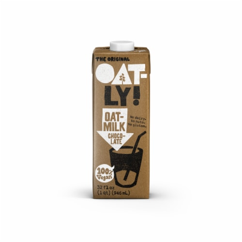 Oatly Chocolate Oat Milk Perspective: front