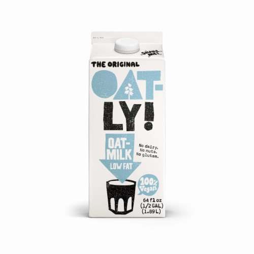 Oatly Original Low Fat Oatmilk Perspective: front