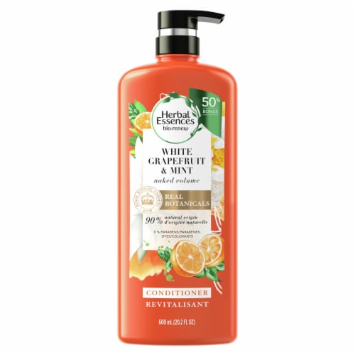 Herbal Essences Bio:Renew White Grapefruit & Mosa Mint Naked Volume Conditioner Perspective: front