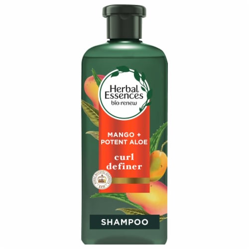 Herbal Essences Bio:Renew Mango + Potent Aloe Sulfate Free Shampoo for Curly Hair Perspective: front