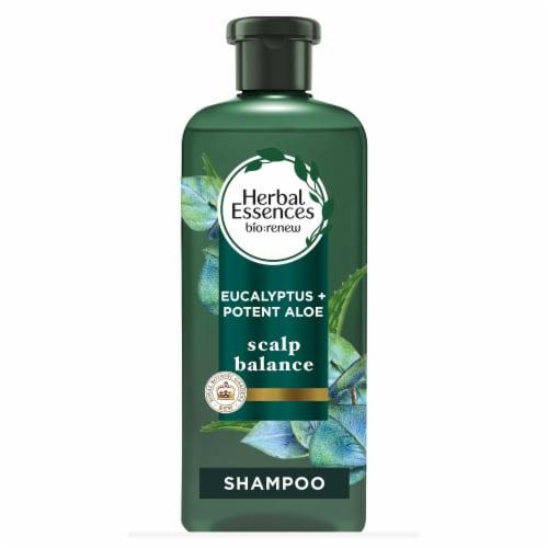 Herbal Essences bio:renew Aloe + Eucalyptus Sulfate Free Scalp Balance Shampoo Perspective: front