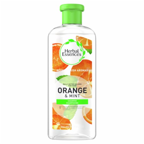 Herbal Essences Orange & Mint Daily Detox Volume Shampoo Perspective: front