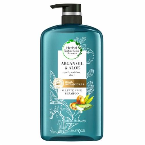 Herbal Essences bio:renew Argan Oil & Aloe Sulfate-Free Shampoo (29.2 fl., oz.) Perspective: front