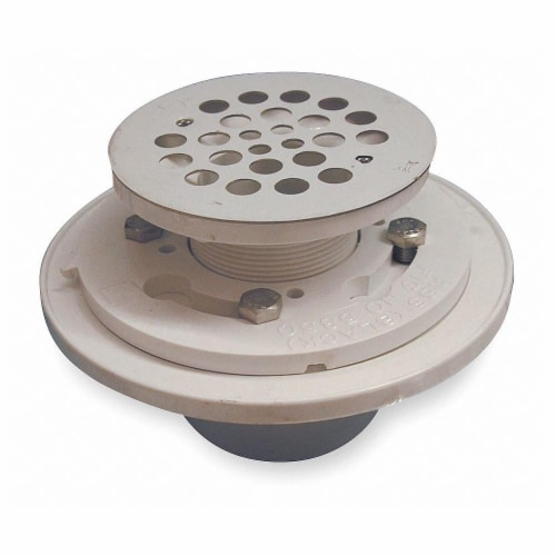 Sim Supply Shower Drains,Dia. 2  to 3 ,Round,PVC  133-114 Perspective: front