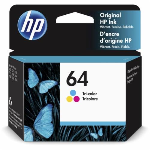 HP 64 Original Ink Cartridge - Tri-Color Perspective: front