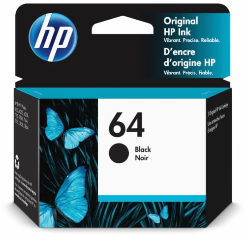 HP 64 Original Ink Cartridge - Black Perspective: front