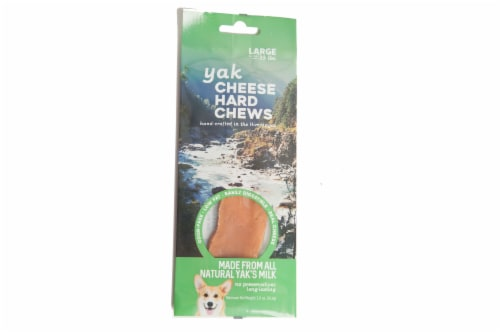 Nature's Own Yak Large Cheese Dog Chew Perspective: front