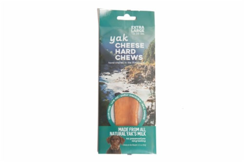 Nature's Own Yak Extra Large Cheese Dog Chew Perspective: front